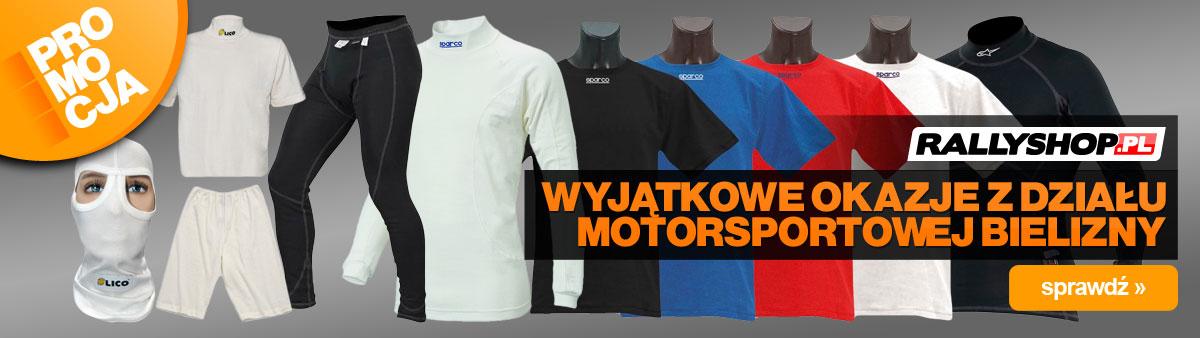 Promocja na wybrane modele bielizny motorsportowej