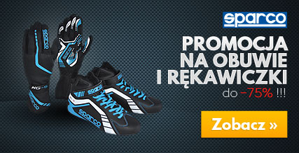 Promocje na buty i rękawice Sparco