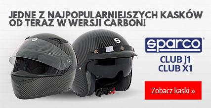 Kaski Sparco Club w wersji carbon!
