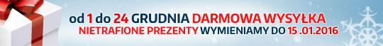 Darmowa wysyłka od 1 do 24 grudnia, przyjmujemy zwroty aż do 15 stycznia 2015